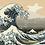 Thumbnail: The Great Wave of Kanagawa, Hokusai Ukiyo-e Furoshiki - 2/5 Complexity