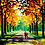 Thumbnail: Couple Walking in Autumn Trees - 4.5/5 Complexity