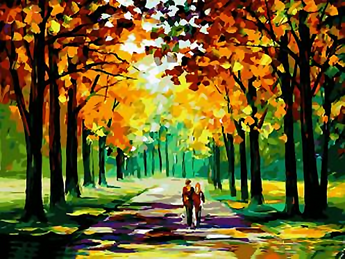 Couple Walking in Autumn Trees - 4.5/5 Complexity