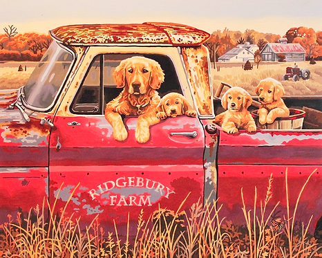 Dogs in Truck - 4/5 Complexity
