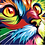 Thumbnail: Colourful Abstract Cat - 1.5/5 Complexity