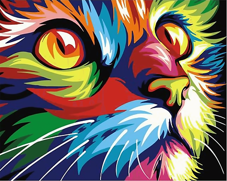 Colourful Abstract Cat - 1.5/5 Complexity