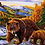 Thumbnail: Bear and Cub in Wilderness - 4/5 Complexity