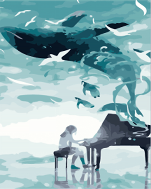 Abstract Whale and Pianist - 1.5/5 Complexity