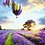 Thumbnail: Hot Air Balloons and Flowers Landscape - 3.5/5 Complexity