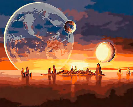 Abstract Planets over the Sea - 2.5/5 Complexity