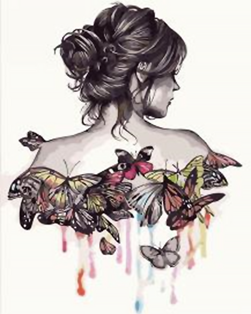 Abstract Butterfly Girl - 3.5/5 Complexity