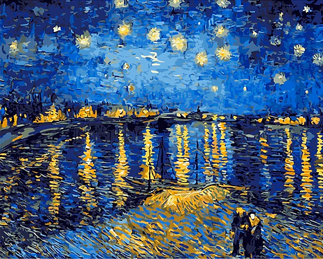 Van Gogh's Starry Night over The Rhone  - 4/5 Complexity