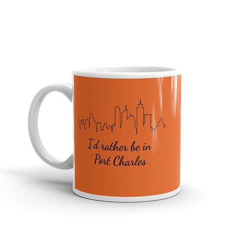 I'd Rather Be In Port Charles Mug - Orange