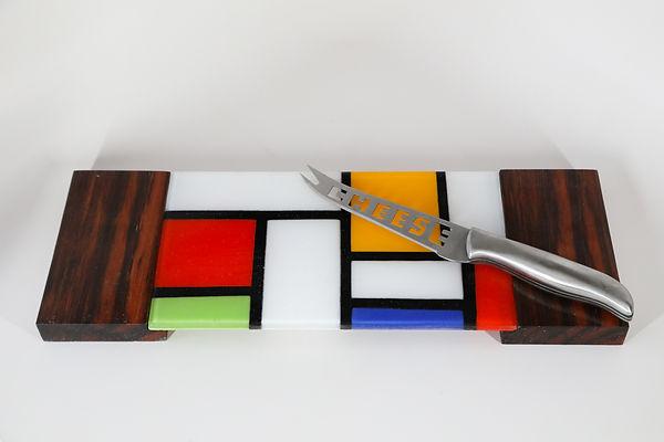 Modrian and exoctic wood cheeseboard.jpg
