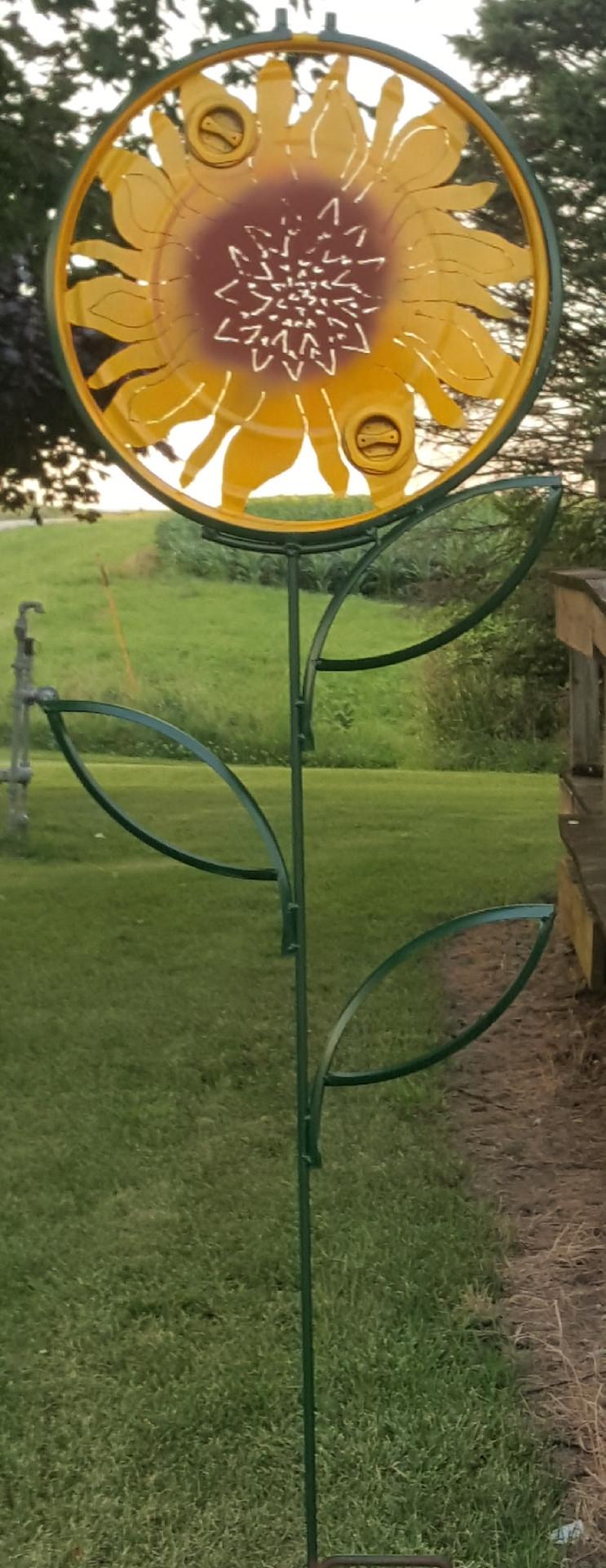Barrel Sunflower Trellis