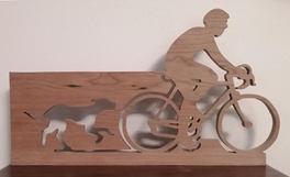 Cycliste et son chien