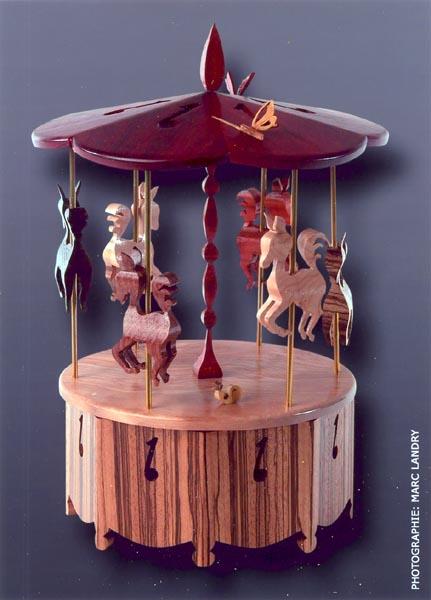 Boîte musicale Carrousel de chevaux