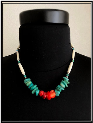 Turquoise & Red Coral
