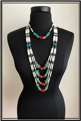Turquoise & Red Coral Set
