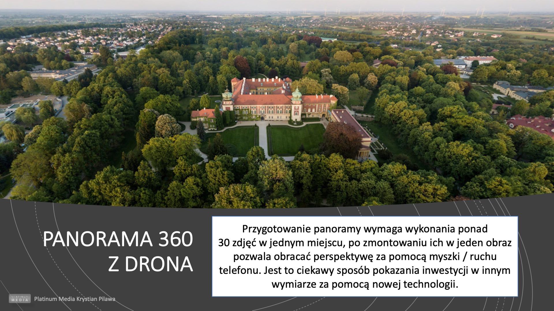 Panorama z drona