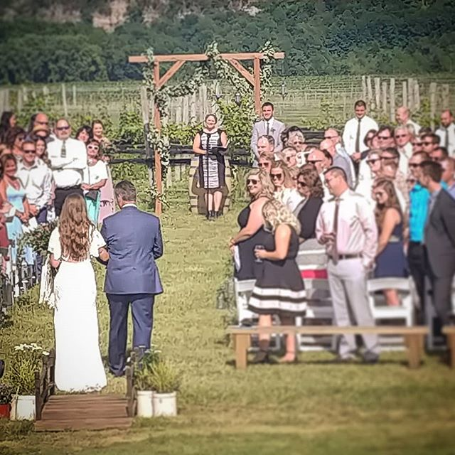 Beautiful day for a vineyard wedding! _#