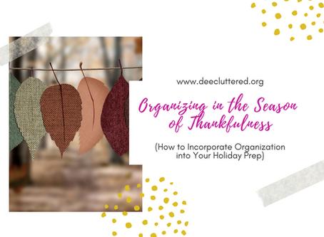 Organizing in the Season of Thankfulness