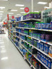 Buying cleaning supplies at Target