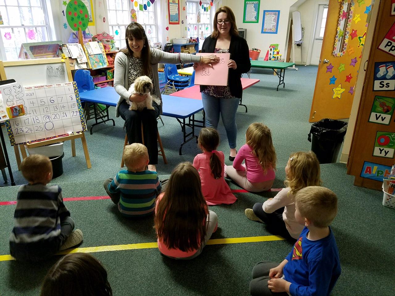 Posie visits Preschool