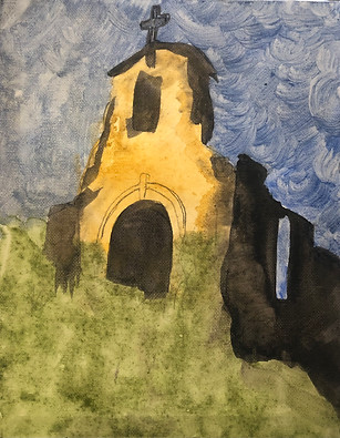 Morley Church, by Patrick Arguello. Acrylic on canvas.