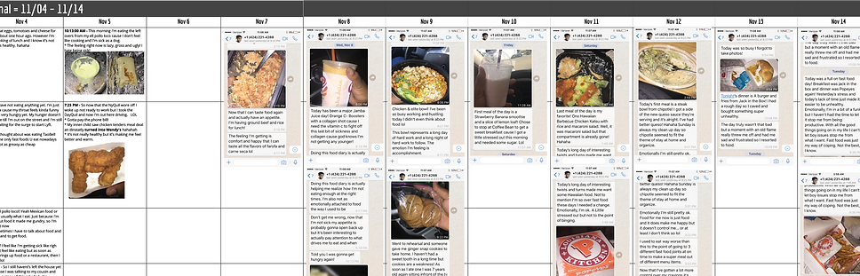 UX Prototype - Food Journaling