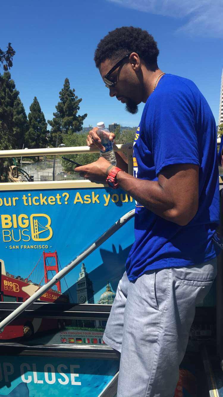 James Michael McAdoo	on the float