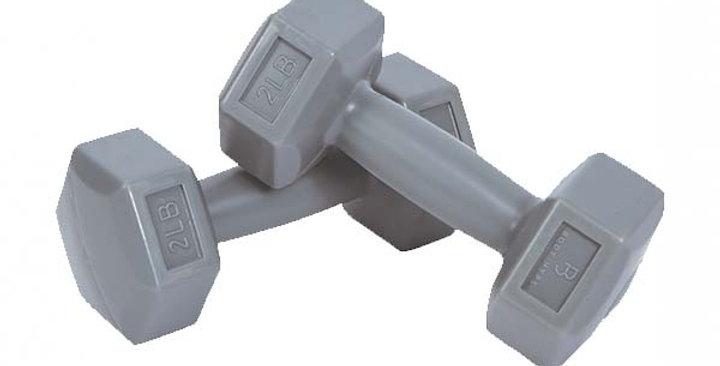 PTEC-ULD10 Plastik Dumbell Set 0.9KG - GRAY