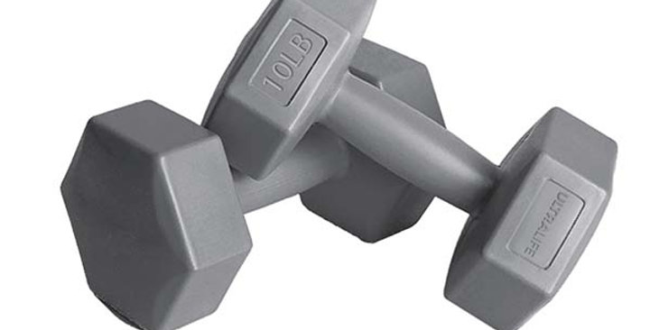 Plastik Dumbell Set 4,5KG - GRAY
