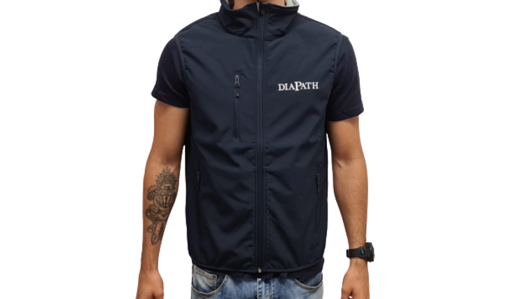 Sleeveless Jacket  - Blue