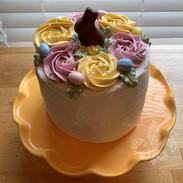 Almond Cake with Vanilla Buttercream