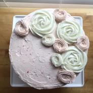 Champagne Strawberry Almond Cake