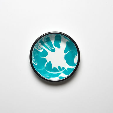 A LITTLE COLOR Turquoise Mini Plate
