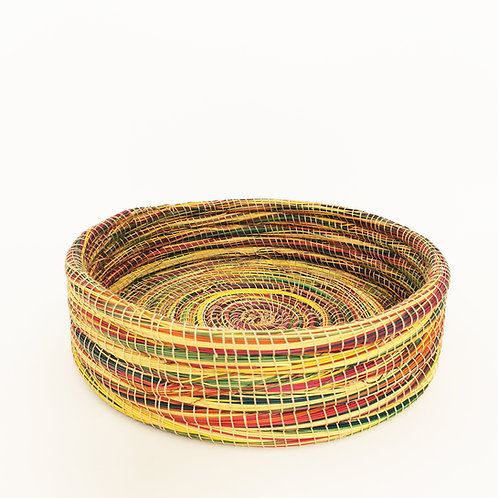 HANDMADE Colorful Wicker Basket