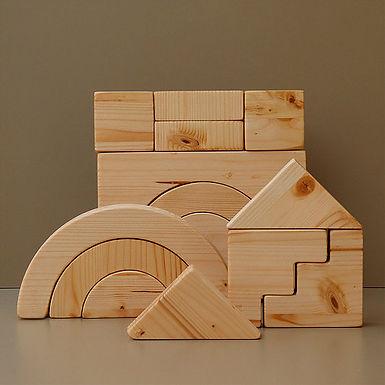 GAME Wooden Blocks (15 Pieces)