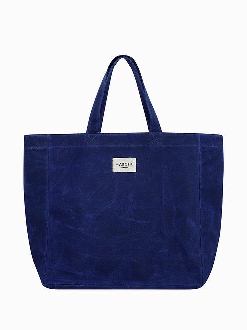LIDO Saxe Blue Waxed Canvas Bag