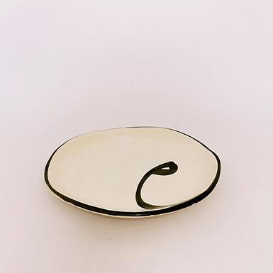 HANDMADE Calligraphy Ceramic Plate