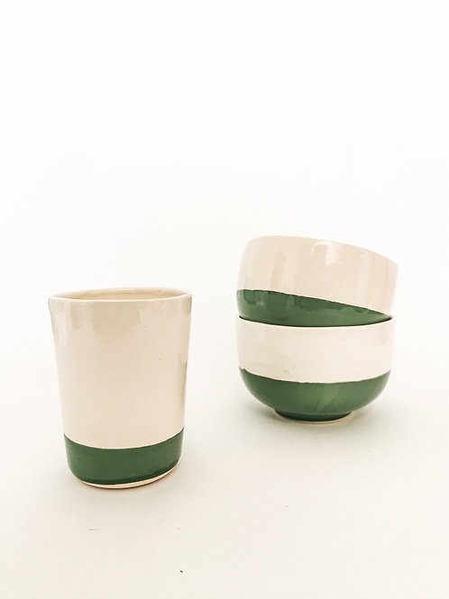 PEACOK GREEN Ceramic Bowl