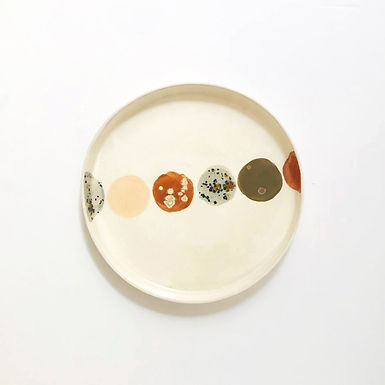 PASTEL PLANET Ceramic Medium Plate
