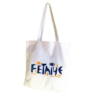 FETHIYE Ecru Tote Bag