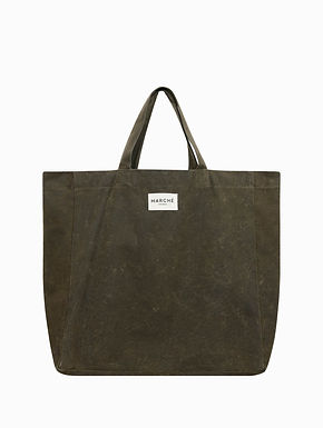 LIDO Khaki Waxed Canvas Bag