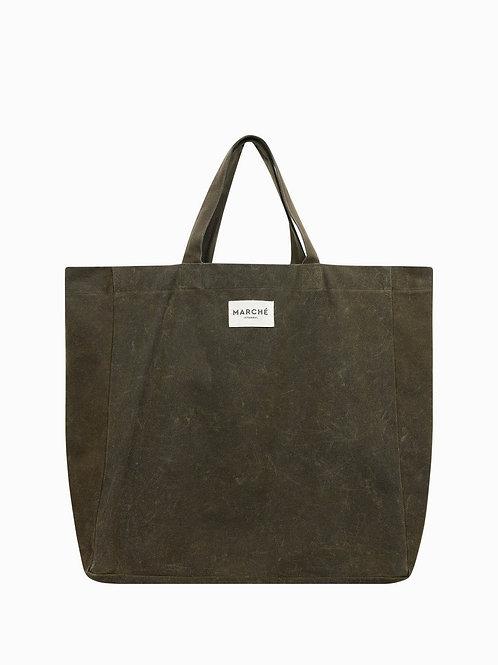 LIDO Khaki Waxed Canvas Bag