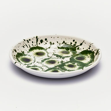 Floral Madness Green Big Plate