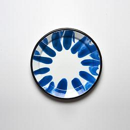 A LITTLE COLOR Blue Dinner Plate
