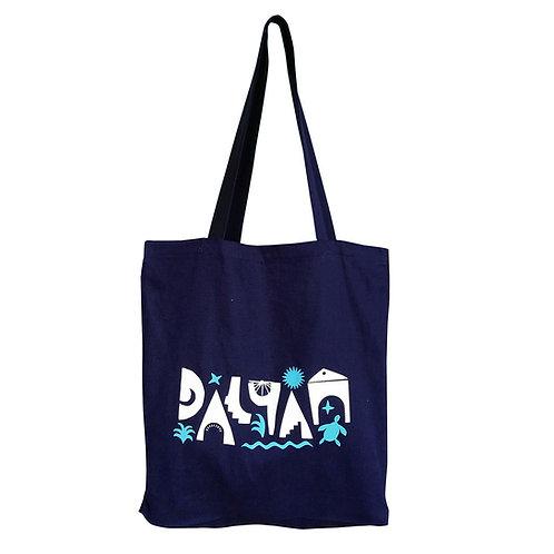 DALYAN Navy Blue Tote Bag