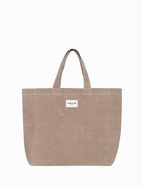 LIDO Milky Brown Waxed Canvas Bag