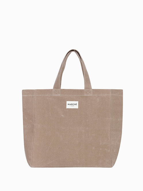 LIDO Milky Brown Waxed Canvas Bag