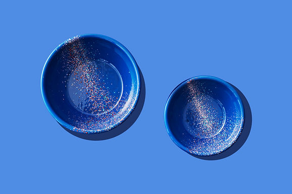 FLOW FEST Blue Big Salad Bowl