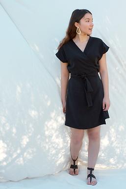 URSULA Wrap Black Dress