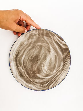 MARBLE Effect Ceramic Plate